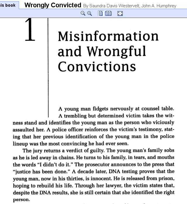 essay about wrongful convictions